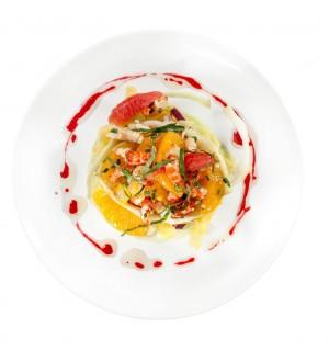 Salade d'écrevisses aux agrumes